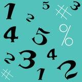 Aantal naadloos patroon stock foto's