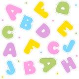 Het naadloze patroon van het alfabet Royalty-vrije Stock Foto's
