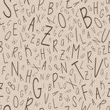 Het naadloze patroon van het alfabet Royalty-vrije Stock Foto