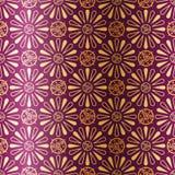 Het naadloze patroon van het art deco met bloemen Stock Afbeelding