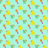 Het naadloze patroon van het babyspeelgoed Stock Foto
