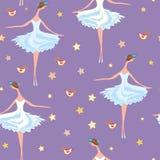 Het naadloze patroon van het ballet Royalty-vrije Stock Fotografie