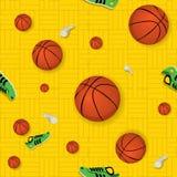 Het Naadloze Patroon van het basketbal Stock Foto