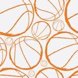 Het naadloze patroon van het basketbal vector illustratie