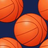 Het Naadloze Patroon van het basketbal Stock Fotografie