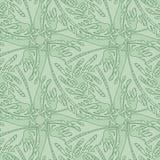 Het naadloze Patroon van het Behang met Gestileerde Bladeren Royalty-vrije Stock Afbeelding