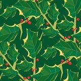 Het naadloze Patroon van het Behang van de Hulst royalty-vrije illustratie