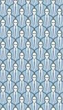 Het naadloze Patroon van het Behang van de Menigte stock illustratie