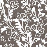 Het naadloze patroon van het bloemkant royalty-vrije stock afbeeldingen