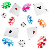Het naadloze patroon van het casino Royalty-vrije Stock Foto's