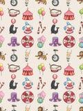 Het naadloze patroon van het Circus Royalty-vrije Stock Afbeeldingen