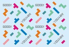 Het naadloze patroon van het computerspel Stock Fotografie