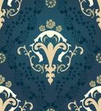 Het naadloze patroon van het damast Royalty-vrije Stock Foto