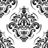 Het naadloze patroon van het damast abstracte achtergrond Stock Afbeelding