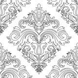 Het naadloze patroon van het damast Oriënteer Achtergrond Royalty-vrije Stock Fotografie