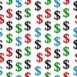 Het naadloze patroon van het dollarsymbool Stock Afbeelding