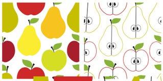 Het naadloze patroon van het fruit Stock Afbeelding