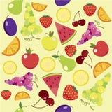 Het Naadloze Patroon van het fruit Stock Fotografie