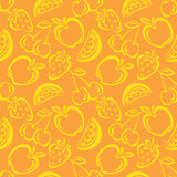 Het naadloze Patroon van het Fruit Royalty-vrije Stock Foto