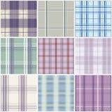 Het naadloze patroon van het geruite Schotse wollen stof Stock Afbeelding