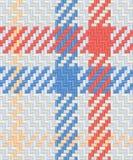 Het naadloze patroon van het geruite Schotse wollen stof Stock Afbeeldingen