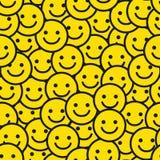 Het Naadloze Patroon van het glimlachgezicht Royalty-vrije Stock Foto's