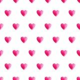 Het naadloze patroon van het hart stock illustratie