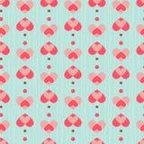 Het naadloze patroon van het hart Stock Afbeelding