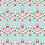 Het naadloze patroon van het hart Royalty-vrije Stock Foto