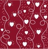 Het naadloze patroon van het hart Royalty-vrije Stock Afbeeldingen