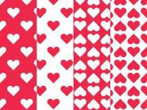 Het naadloze patroon van het hart Royalty-vrije Stock Afbeelding