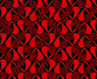 Het naadloze patroon van het hart Een vectorillustratie Stock Foto