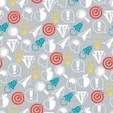 Het naadloze patroon van het ideeconcept in vlakke ontwerpstijl Stock Afbeeldingen