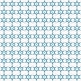 Het naadloze patroon van het jodensterteken stock illustratie