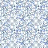 Het naadloze patroon van het kant met bloemen stock illustratie