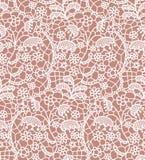 Het naadloze patroon van het kant met bloemen Stock Afbeelding