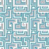 Het naadloze patroon van het labyrint Stock Afbeeldingen