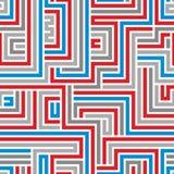 Het naadloze patroon van het labyrint Royalty-vrije Stock Foto's