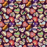 Het naadloze patroon van het liefdehart stock illustratie