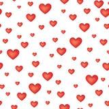 het naadloze patroon van het liefdehart vector illustratie