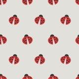 Het naadloze Patroon van het Lieveheersbeestje Stock Afbeelding