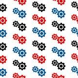 Het naadloze patroon van het montagessymbool Royalty-vrije Stock Afbeeldingen