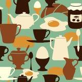 Het naadloze patroon van het ontbijt Stock Foto