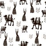 Het naadloze patroon van het oosten Vector illustratie Royalty-vrije Stock Afbeeldingen
