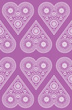 Het naadloze patroon van het ornamenthart stock illustratie