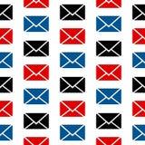 Het naadloze patroon van het postsymbool Royalty-vrije Stock Afbeeldingen