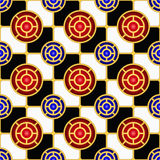 Het naadloze patroon van het schaakbord Stock Afbeeldingen