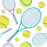 Het naadloze patroon van het tennis Royalty-vrije Stock Afbeeldingen