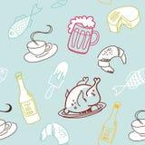 Het naadloze patroon van het voedsel. Royalty-vrije Illustratie