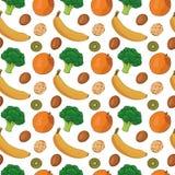 Het naadloze patroon van het voedsel Stock Foto's